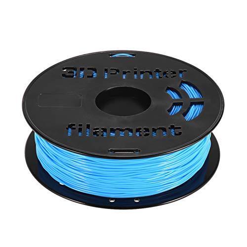 Adaskala 1 kg/Spule 1,75 mm flexibles TPU-Filament-Druckmaterial Liefert Weiß, Schwarz, Transparent für 3D-Drucker-Zeichenstifte Hellblau