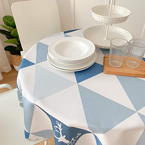 Nordic rond tafelkleed, waterdicht, olieafstotend, wegwerp-tafelkleed, vrij van verbranding, rond, rode tafel, eettafel, 130 cm
