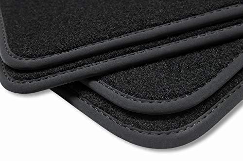 teileplus24 V377 Velours Fußmatten für Opel Mokka/Mokka X 2012-2019 Trittschutz Fahrermatte, Naht:Schwarz