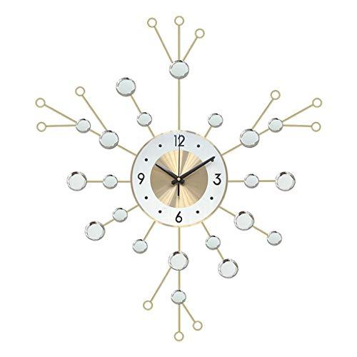 SMEJS Reloj de Pared Grande Diseño Moderno Nordic Minimalista Minimalista Reloj de Pared Grande Mediterráneo Sala de Estar Decoración del hogar (Color : A)