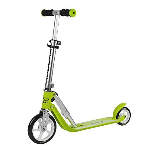 HUDORA Little Big Wheel, grün - Scooter Roller Kinder - Verstellbare Lenkerhöhe von 68 bis 74 cm