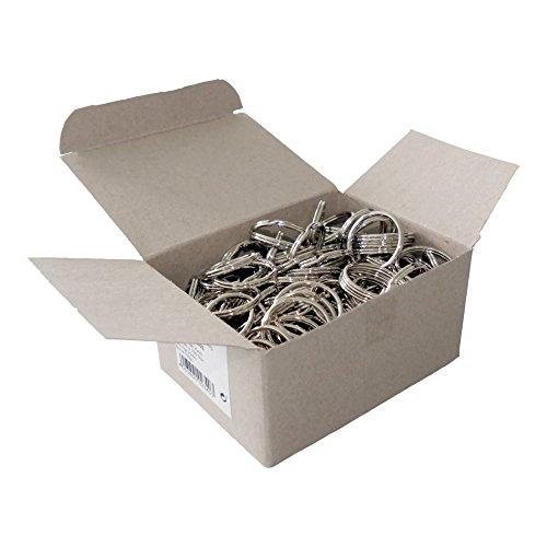 Wedo 2623025 Lot de 100 anneaux porte-clés en métal nickelé, diamètre 25 mm - Couleur : argenté