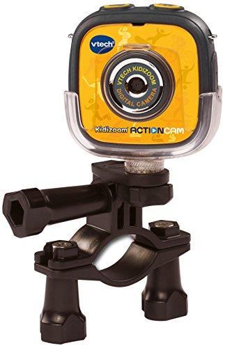 VTech - Kidizoom ActionCam Cámara de Fotos y vídeo para niños, Color Negro/Amarillo, versión española (3480-170722)