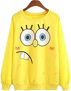 Sponge Bob Pullover Sweatshirt Women Long Sleeve