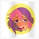 Blossomia Manga Weeb Anime Otaku Eater Crying Gorgon Crona Soul Sad Impressive Posters for Room Decoration Printed with The Latest Modern Technology on semi-Glossy Paper Background
