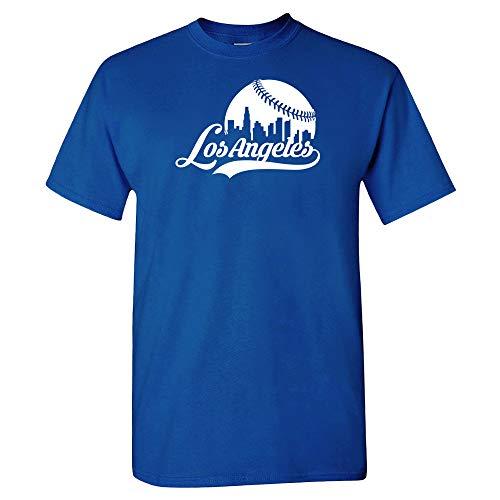 Xtreme Apparrel LA Los Angeles City Baseball Skyline Shirt (XL)