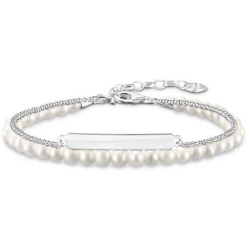 Thomas Sabo Damen-Armreifen Künstliche Perle LBA0116-082-14-L19v