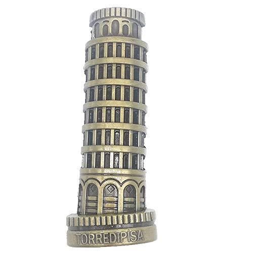 3D Der Schiefe Turm von Pisa Italien Metall Kühlschrankmagnet, Home & Kitchen Dekoration Magnet Aufkleber Kühlschrank Magnet Reise Souvenir Geschenk