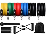 Alonsoo Resistance Bands Set Pro, 6 Fitness Home Workout Exercise Bands with Handles Set Stackable...