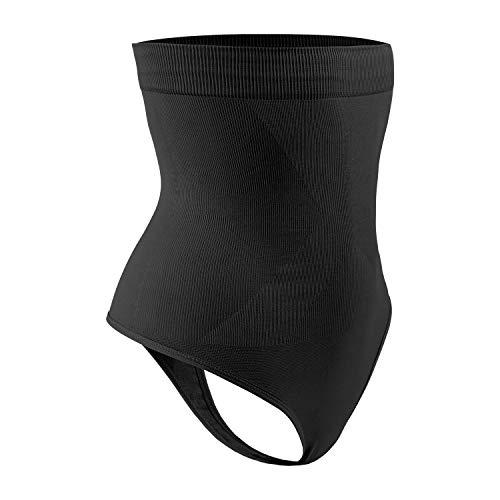 DREAM SLIM Women's High-Waist Seamless Body Shaper Briefs Firm Control Tummy Slimming Thong Shapewear Panties Girdle Underwear (Black, Small)