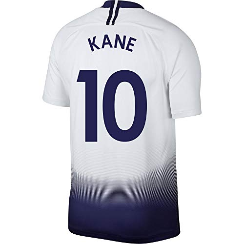 Nike Tottenham Home Kane 10 Trikot 2018/2019 (Fan Style Printing), Unisex-Kinder, weiß, 158-170