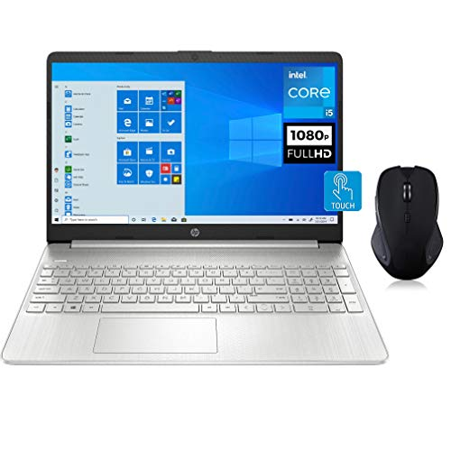 "HP 15 Touchscreen Laptop, 15.6"" FHD IPS Microedge Bezel, 11th Gen Intel Core i5-1135G7, Intel Iris Xe Graphics, 16GB RAM, 256GB SSD, Keypad,Wireless Mouse, Win 10 QWERTY US Version"