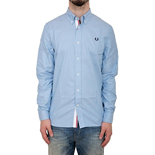 Fred Perry FP Classic Twill Shirt Camicia, Clay Blue, XL Uomo