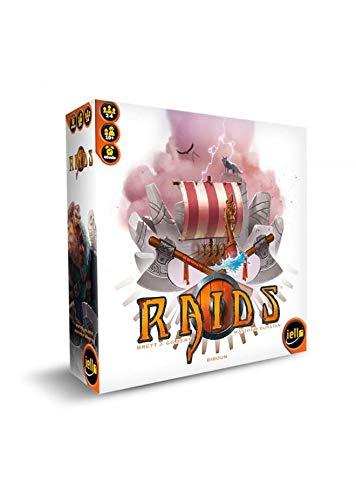 TCG Factory RAIDS Juego de mesa en español para 2 a 4 jugadores, para niños y adultos a partir de 10 años de edad. Viaja a un universo de vikingos y conviértete en el vencedor de la partida.