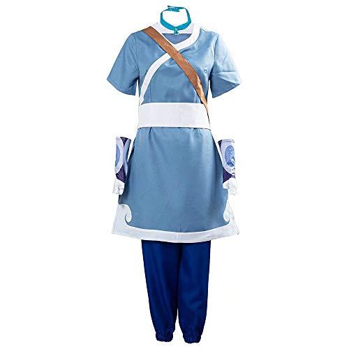 Avatar The Last Airbender Cosplay Kostüm Katara Aang Ty Lee Halloween Karneval Cosplay Anzug Komplettset
