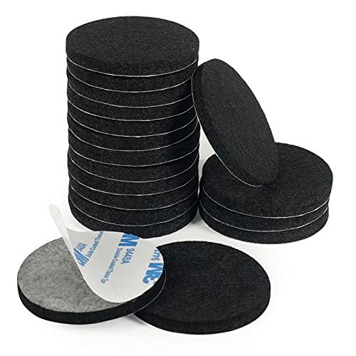 Möbelgleiter, Bodenschutz, 18 Stück, 50 mm, Filz, Stuhlfüße, 5 mm dick, zum Schutz Ihrer Holzböden, Schwarz