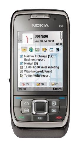 Nokia E66 (UMTS, WLAN, A-GPS, 3,2 MP, Mappe Ovi ) Smartphone, colore. Grigio metallizzato (Importato da Germania)