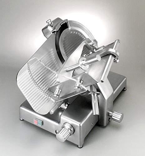 MISTRO GM 350 CE Affettarice a Gravità - omologazione CE uso professionale - lama 35 cm - Manopole in alluminio - Alluminio anodizzato lucido - Made in Italy
