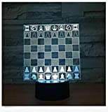 Lámpara de ajedrez 3D led tablero de ajedrez luz nocturna