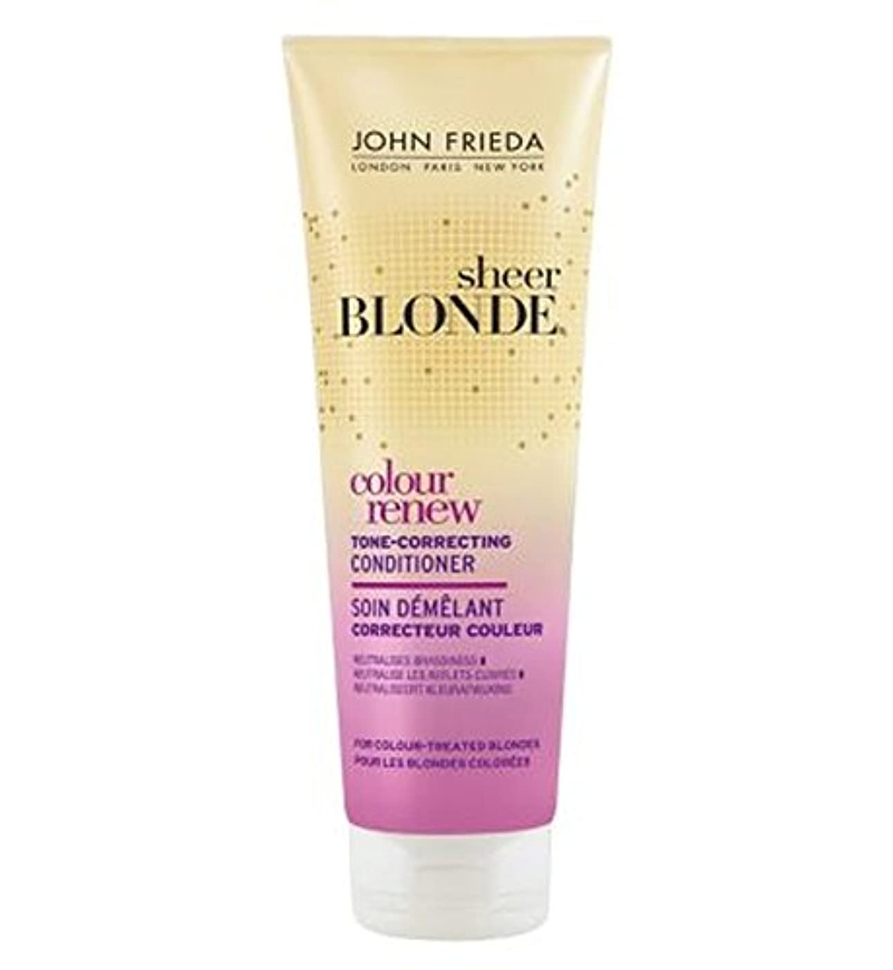 エトナ山ペット胴体John Frieda Sheer Blonde Colour Renew Tone Correcting Conditioner 250ml - ジョン?フリーダ薄手のブロンド色は色調補正コンディショナー250ミリリットルを更新します (John Frieda) [並行輸入品]
