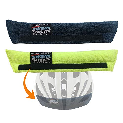 Sweat Buster Bike Helmet Sweatband – Stops Sweat Dripping, Keeps You Cooler, Premium Comfort, Simple Helmet Integration & Quick Removal for Washing. Mountain Biking, Road Biking or Any Cycling. 2 Pack