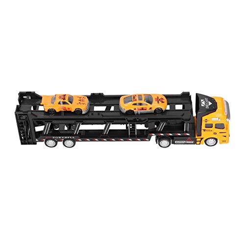 Coche de juguete, 1:48, aleación, retroceso, vehículos de alta simulación, modelo de coche de juguete, ideal para niños pequeños, niños y niñas(amarillo)