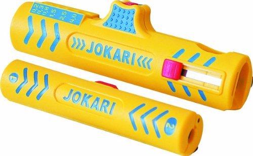 Jokari Kabelverarbeitungs-Set Secura II (für Coaxialkabel ø 4,8-7,5 mm und Rundkabel ø 8-13 mm, Abisolierwerkzeug Kabel) 490119