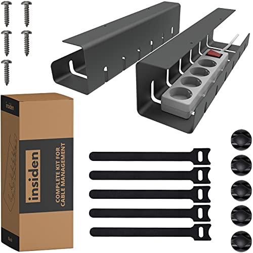 INSIDEN - kit completo para gestión de cables - 2 x soporte...