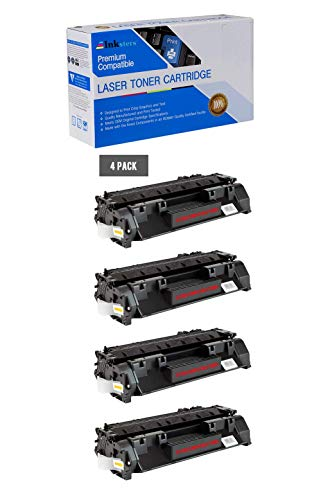 Inksters Compatible Toner Cartridge Replacement for HP 80A (CF280A) Black - Compatible with Laserjet Pro 400 M401A M401D M401DN M401DW M401N M425DN M425DW (4 Pack)