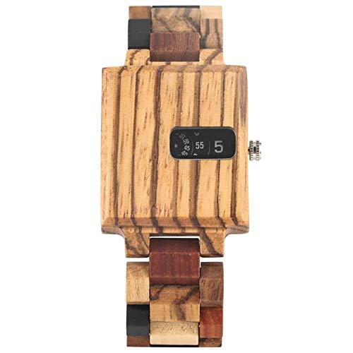 YJRIC Wooden watch Royal Rectangle Wood Case Men's Watches Creative...