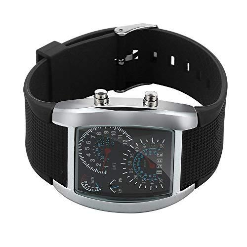 Kariwell Men's Fashion LED Light Flash Turbo Speedometer Sports Car Dial Meter Watch