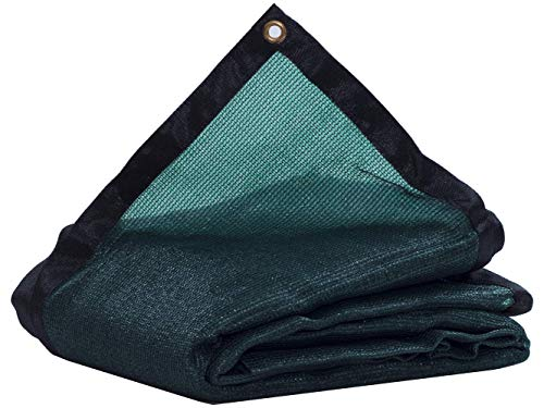 JTsuncover- 90% Heavy Duty Shade Cloth Mesh Sun Block Fabric with Grommets for Garden Cover Flowers Plants Patio Lawn Green 6ft X 8ft
