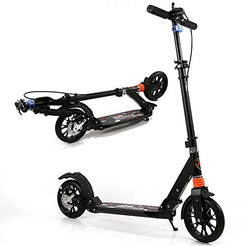 Affordable Adult Kick Scooter with Big Wheels, Folding Portable City Commuter Scooters, Birthday Gif...