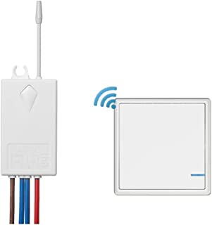 Wireless Light Switch and Receiver Kit for Lamps Ceiling Fans - DIY Remote Control LED Bulb - IP54 Waterproof(1 switch 1 receiver kit)