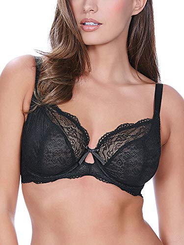 Freya Women's Fancies Underwire Plunge Bra, Black, 30FF
