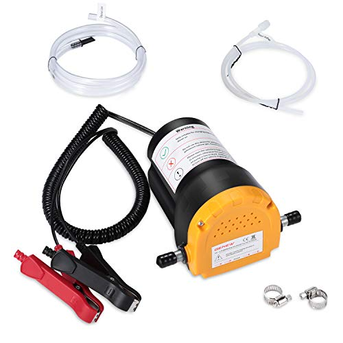 Genew Oil Change Pump Extractor, 12V 80W Diesel Fluid Oil Quick Extract Transfer Pump Scavenge Suction Kit for Car, Boat, Motorbike, Truck, RV, ATV and Other Vehicles