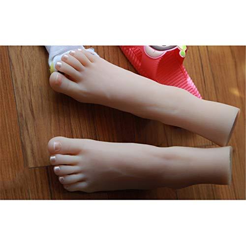 YH-Feet Fuß Fetische, Real-Touch Soft TPE36A weibliches kleines Fußsimulationsfußmodell, realistische visuelle Anzeige,Right Foot