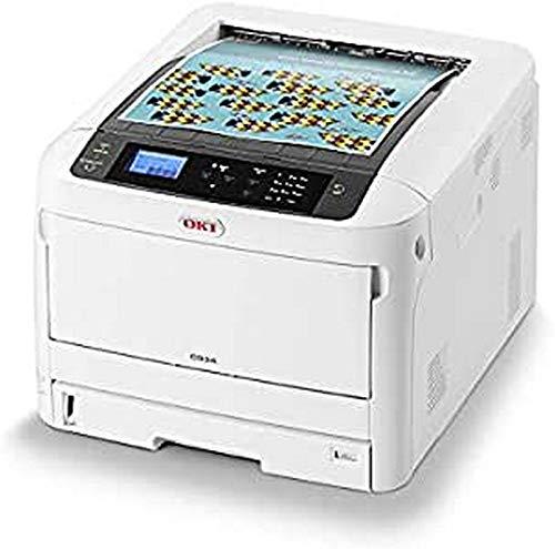 OKI C824n Farbdrucker (Drucken, A3, 26 Seiten/Min., 1.200x600 dpi, LAN, WLAN optional, Duplexdruck optional, 5.000 Seiten/Monat, max 75.000 Seiten)