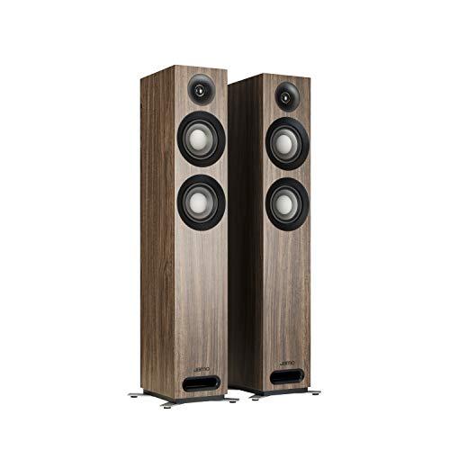 Find Bargain Jamo Studio Series S 807-WL Walnut Floorstanding Speakers - Pair