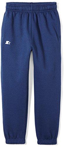 Starter Boys' Elastic-Bottom Sweatpants with Pockets, Amazon Exclusive, Team Navy, L (12/14)