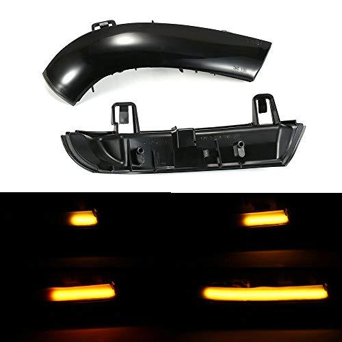 Boomersun LED Blinker Blinkerleuchten Dynamische Ein Paar Spiegelblinker Auto Schwarz Passgenau für Golf 5 Jetta MK5 Passat B6