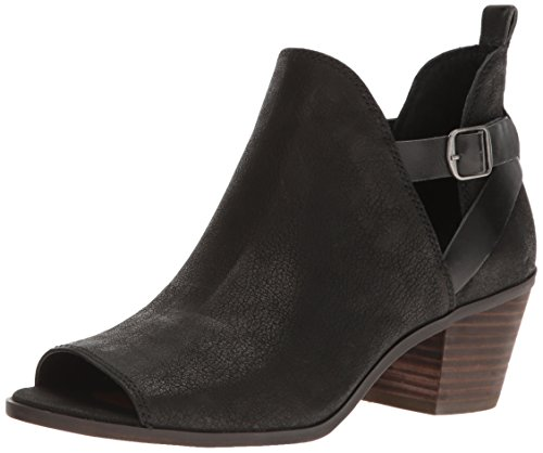 Lucky Brand Women's Banu Ankle Bootie, Black, 5.5 M US