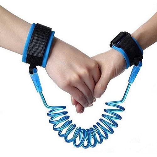Pulsera de seguridad para niños, antipérdida, cuerda de tracción, antipérdida, 1 a 6 años de edad, cinturón de seguridad giratorio