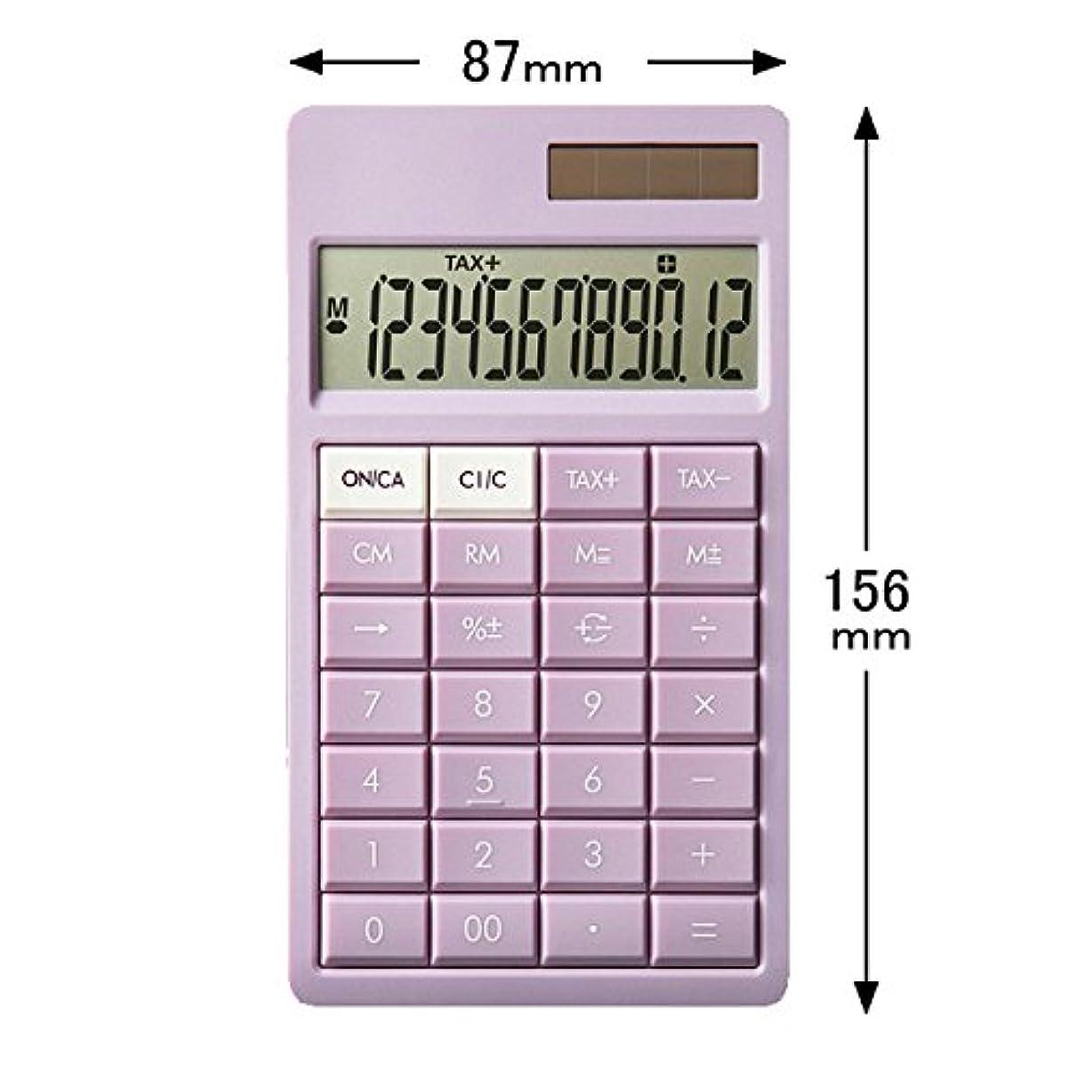 動物園開始コンテンツキヤノン スリムなのに打ちやすい電卓 オーキッドピンク RS-4U-PK