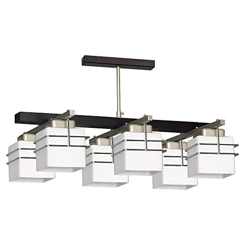 Lámpara de techo Venge blanco Bauhaus estilo 6 x E27 hasta 60 W 230 V de cristal y metal cocina lámpara comedor luces interior iluminación