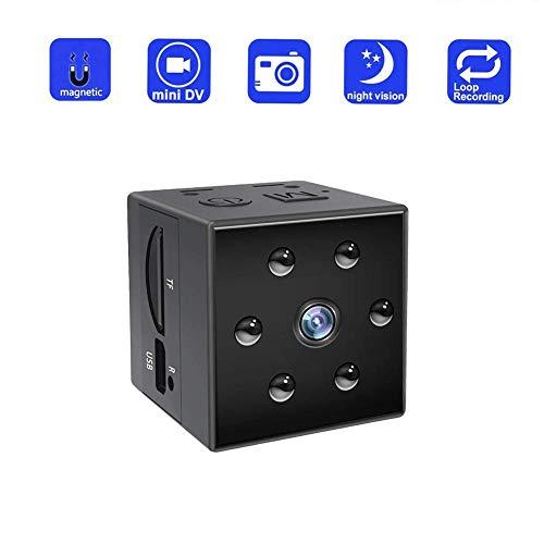 Mbswdd Mini-spionagecamera, verborgen, HD, 1080P, draagbaar, kleine armband, videorecorder met bewakingscamera, infrarood, geïntegreerde accu, cloud-opslag
