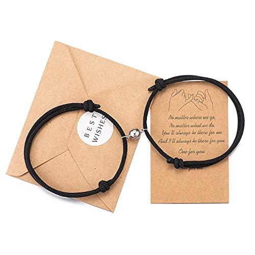 Wilacia Paar Armbänder Magnetic Couple Connecting Matching Relationship Armbänder für Paare Geschenke für Frauen Männer Liebhaber Freund Freundin Ihn Ihr Freund Gf
