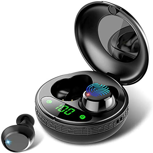 Wireless Headphones, True Wireless Earbuds with Portable Charging Case,...