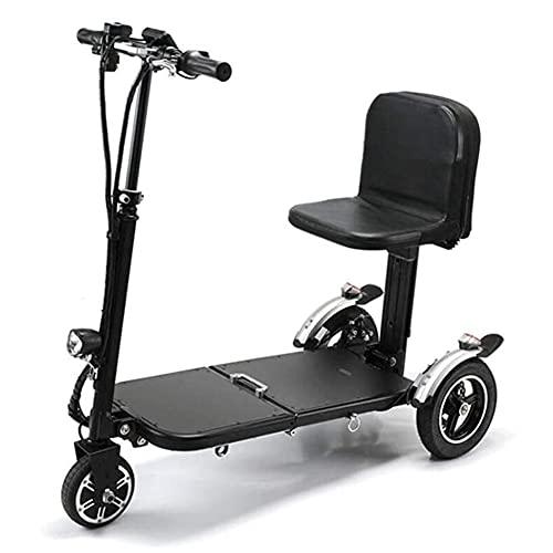 GAO-bo Scooters De Movilidad, Scooter Plegable para Ancianos, Mini Triciclo Eléctrico, Silla De Ruedas Eléctrica para Discapacitados, La Batería De Litio Puede Estar En El Plano