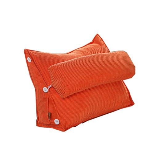uus Coussin de canapé triangle moderne Design ergonomique avec coussin de tête amovible coussin de chevet Coussin de dossier à lame à rebord lent à la poubelle 45 * 50 * 20 cm ( Couleur : O )